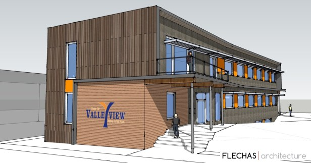Passive House Townhall, Valleyview, Canada - Credit: Flechas Architecture