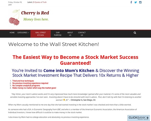 Welcome to the Wall Street Kitchen! – Cherry is Red