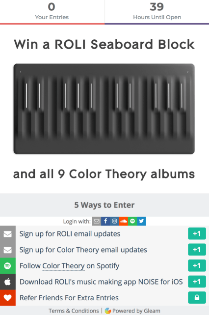 ROLI Color Theory contest