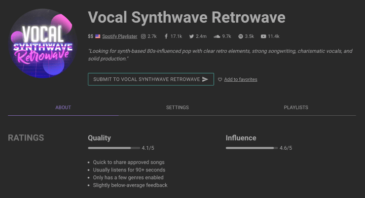 Vocal Synthwave Retrowave on SubmitHub