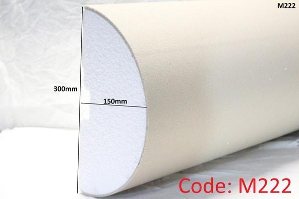 300mm x 150mm Curved Pillar half in sandstone