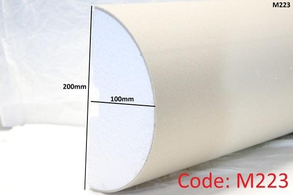 200mm x 100mm Curved half pillar in sandstone