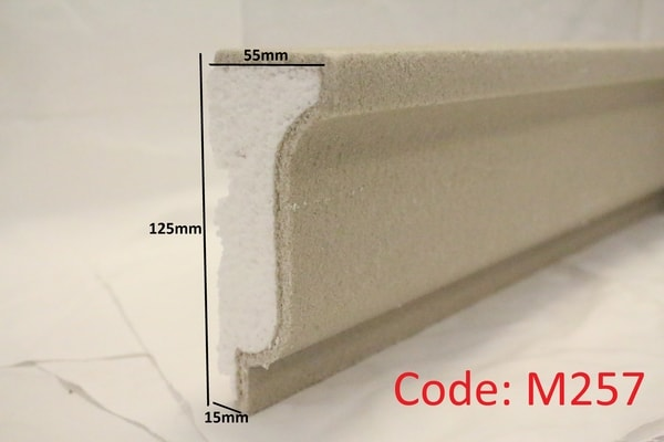 125mm x 55mm curved ledge moulding in sandstone