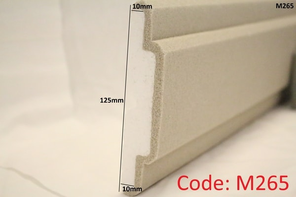125mm x 10mm falt moulding in sandstone