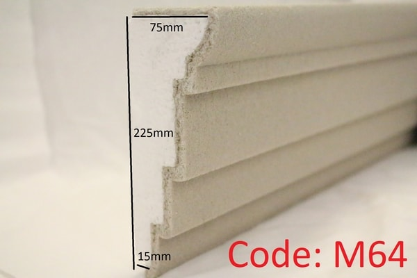 225mm x 75mm Stepped Reveal in Sandstone