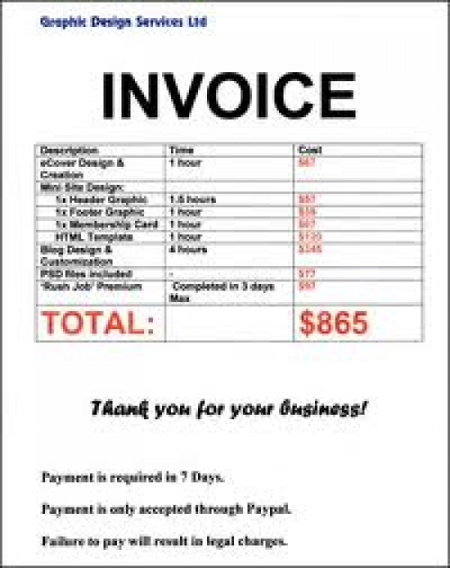 Classwork Series And Exercises Business Studies JSS Preparation - Invoice bill