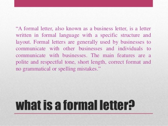 SS2 English Language Second Term: Essay Writing: Formal Letter