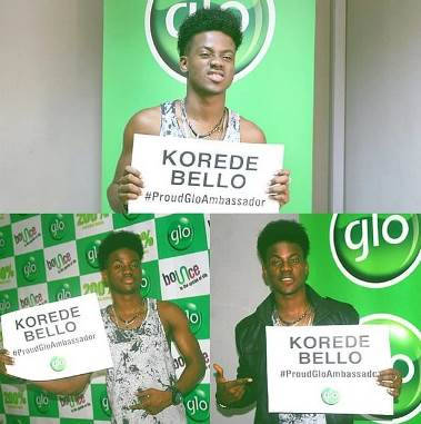 Korede Bello is an ambassador for Glo