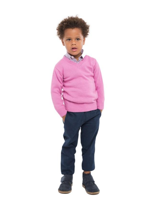 boy in pink