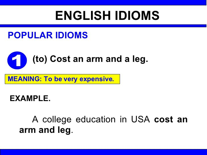 Ss2 English Language Third Term Idioms Vocabulary Words