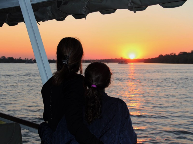 Sunset cruise on the Zambezi River - Africa