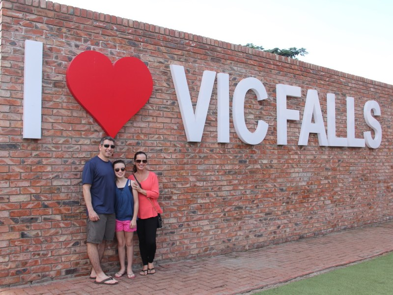I love Vic Falls sign Africa