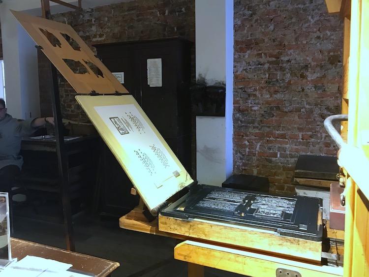 Ben Franklin Printing Press