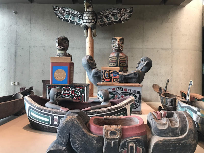 First Nations people at Museum of Anthropology