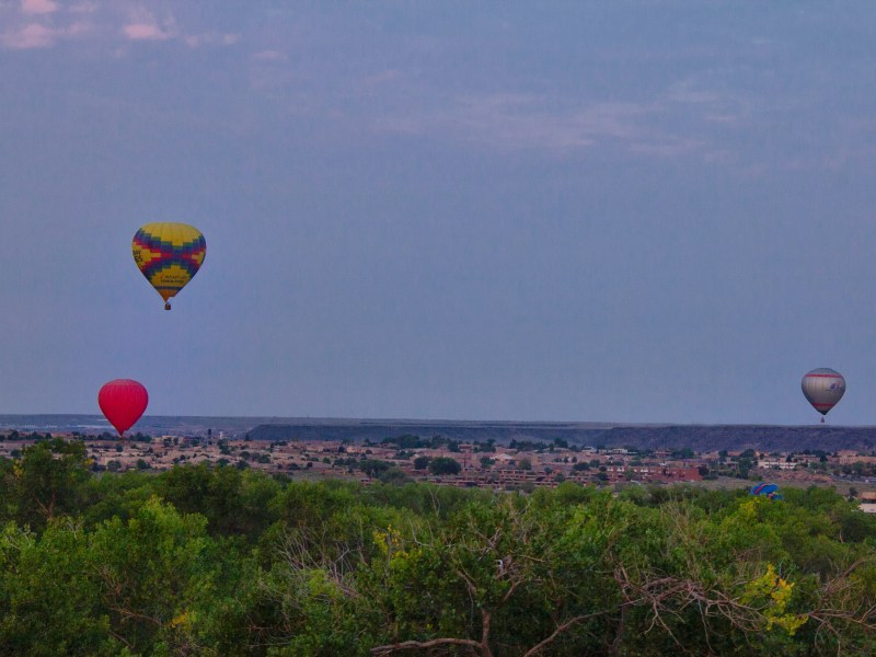 Hot air balloon ride in New Mexico