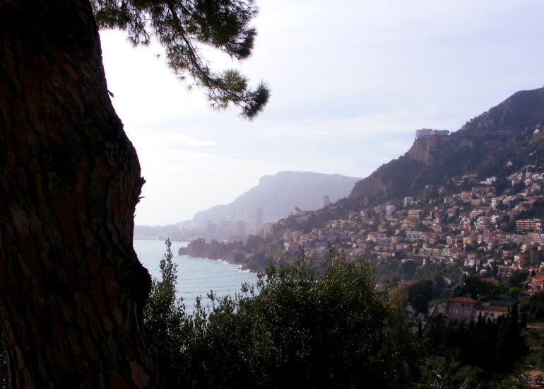Beautiful views along the coast of the French Riviera