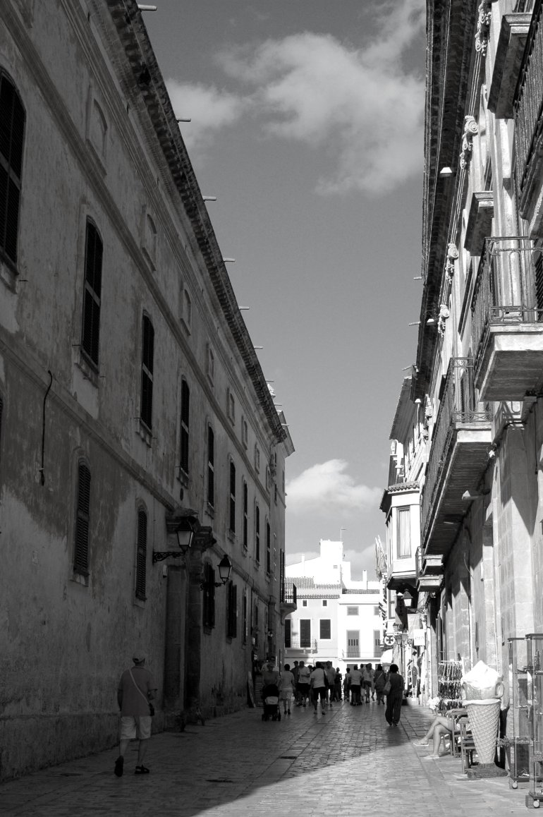 Rustic street in Menorca's Ciutadella