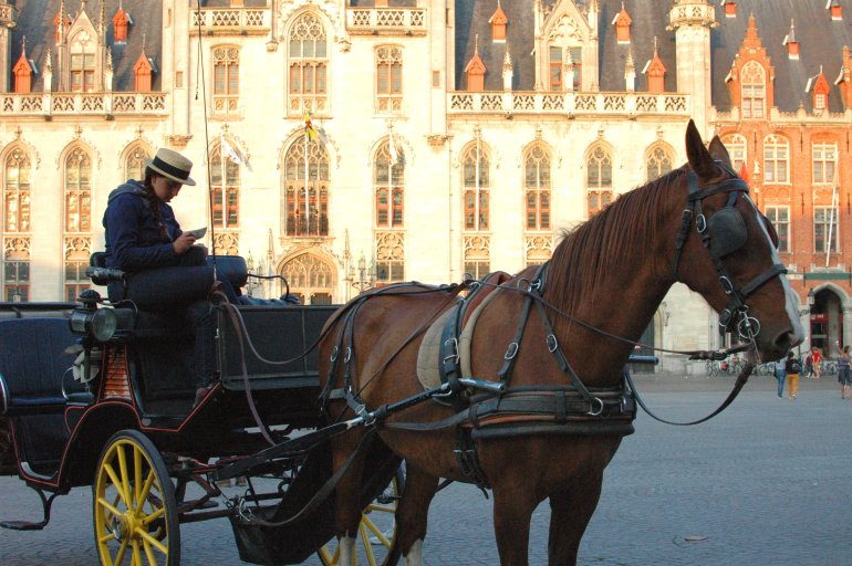 Horse and Cart, Bruges Markt Square - A Travel Guide to Bruges, Belgium