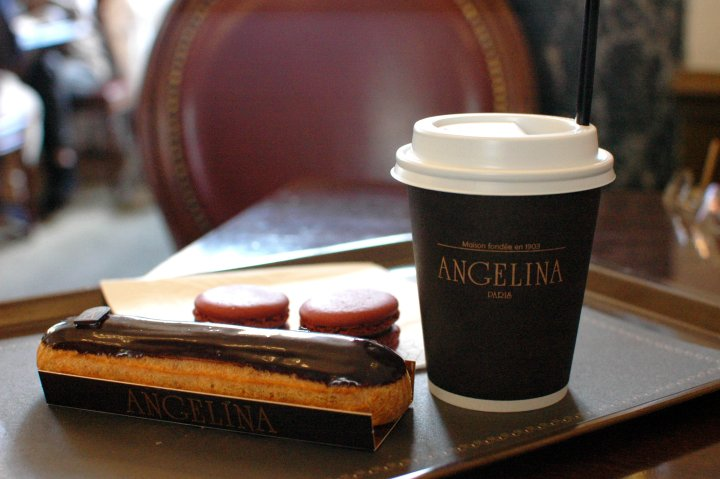 16 Cool Things to Do in Paris - Angelina Hot Chocolate and Eclair