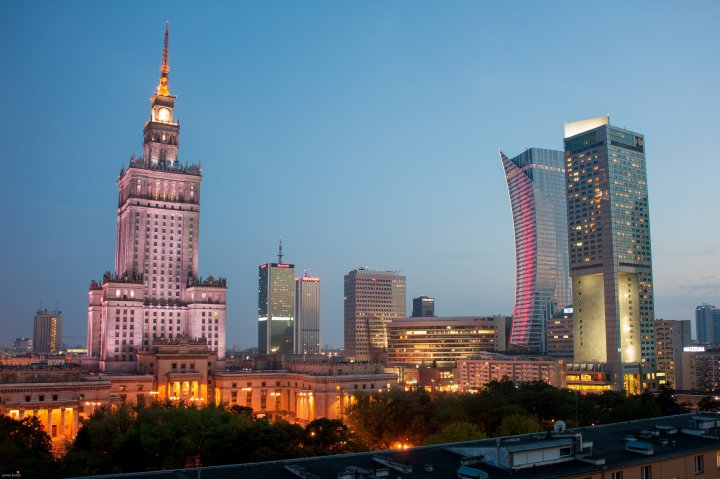 A Weekend in Warsaw Travel Guide - Warsaw City Skyline at Night