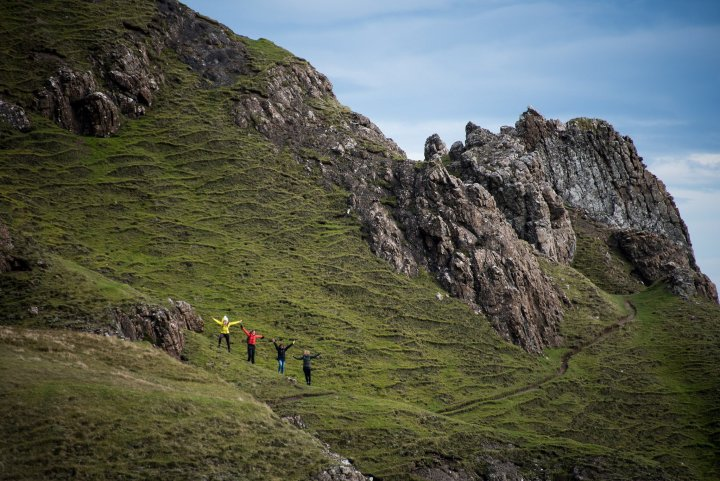 Hiking the Quiraing, Isle of Skye, Scotland #travel #lessons #lifelessons #gratitude #blessings #wanderlust #selfdevelopment #isleofskye #happiness #success #adventure #hiking #quiraing #scotland