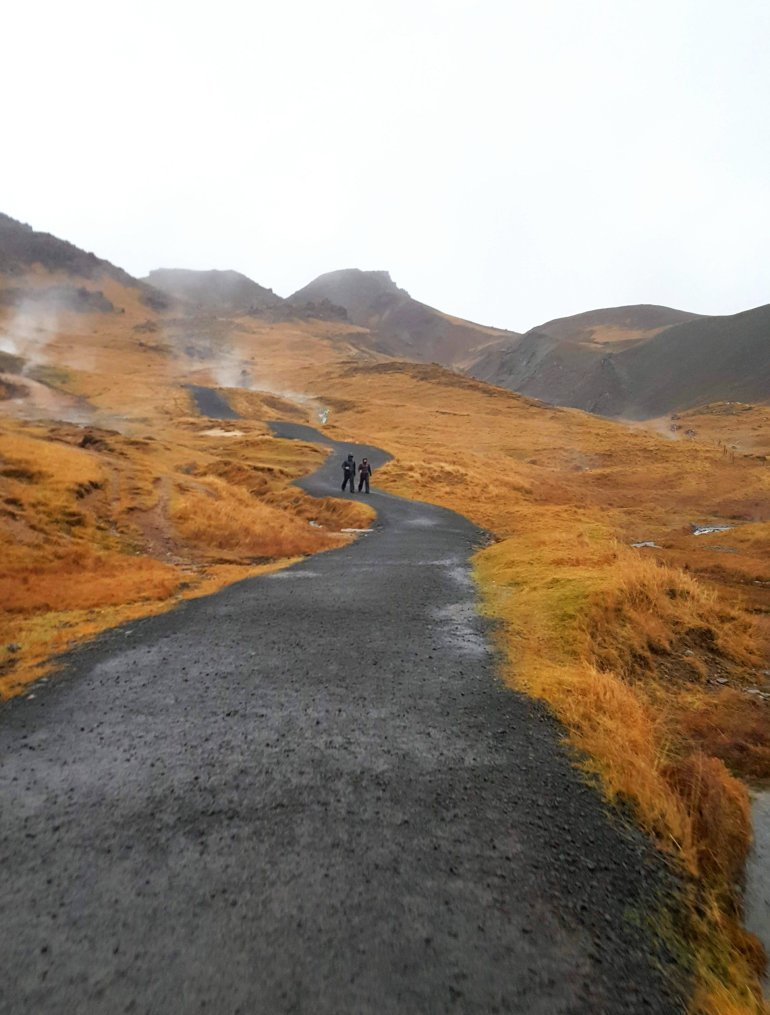 Hiking to Reykjadalur Hot Springs, Iceland