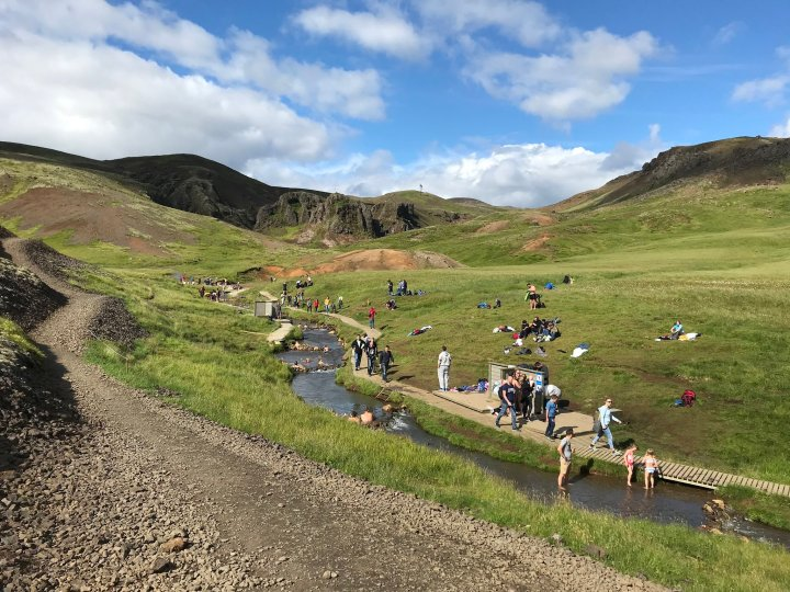Hiking to Reykjadalur Hot Springs, Iceland