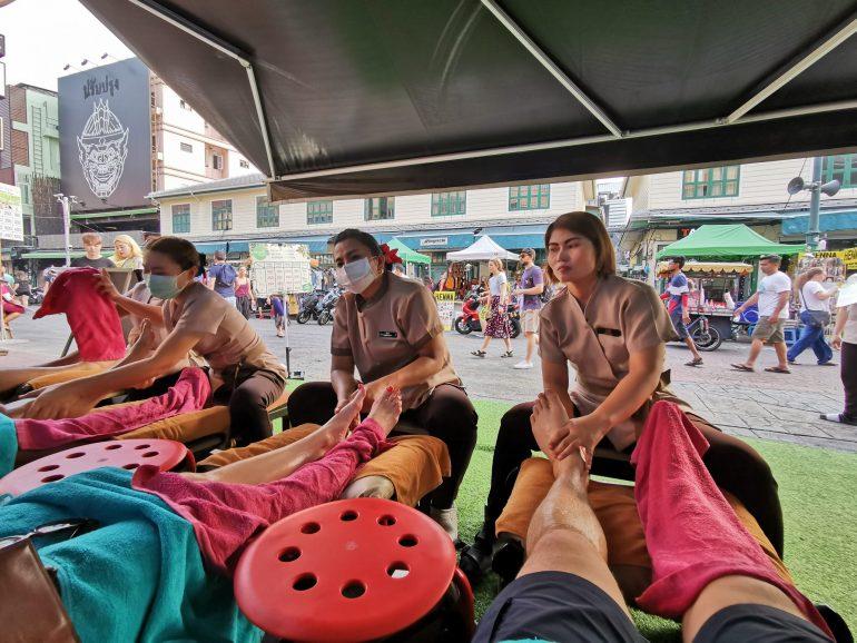 Thai foot massage on Khao San Road, Bangkok