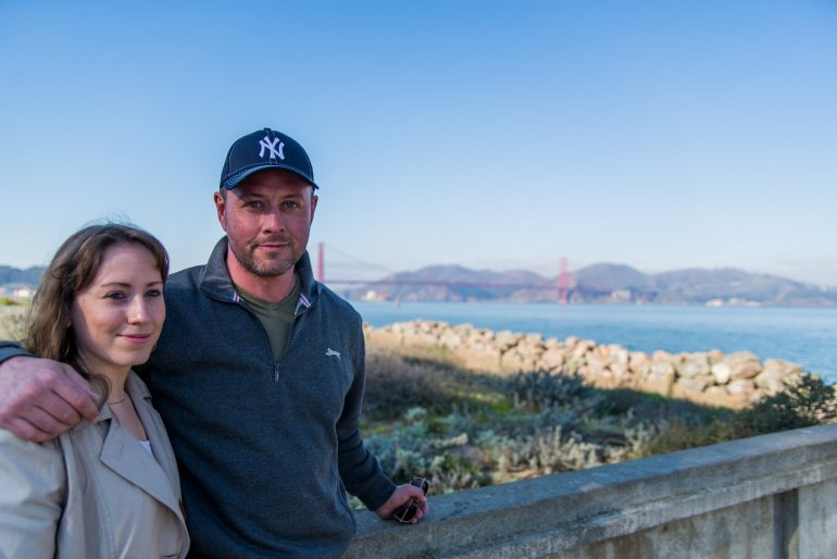 Jamie and Zara Aitken in San Francisco