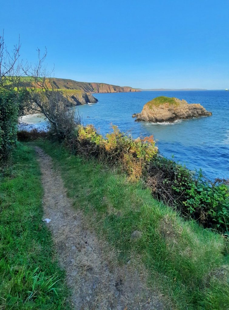 Pembrokeshire Coast Path from Freshwater East to Stackpole Quay