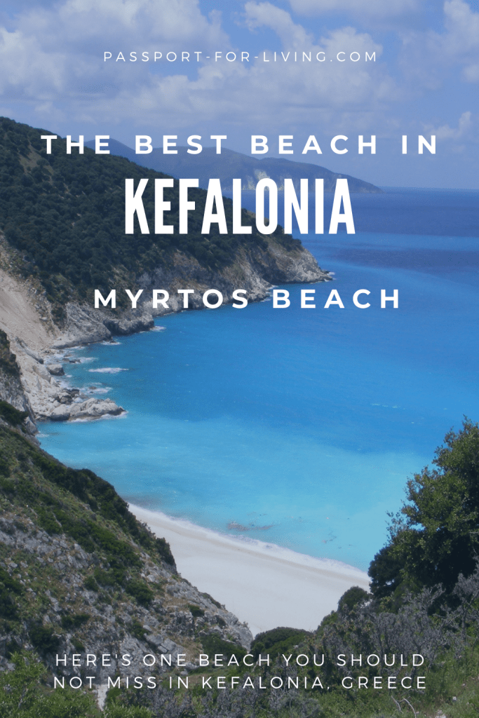 The best beach in Kefalonia is Myrtos Beach