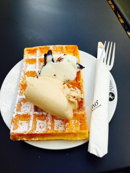 Waffle and ice cream!