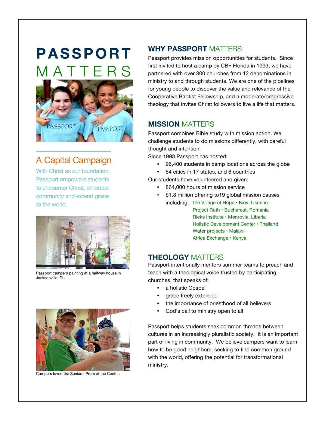 PASSPORT Talking Points