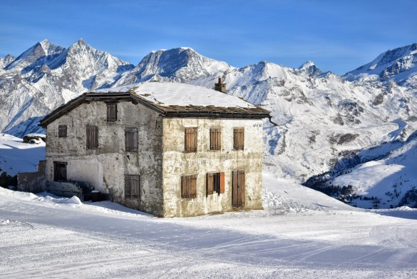 Building in the snow, Zermatt