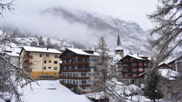 Snow clouds descending on Zermatt