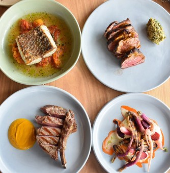 Food from Montalto restaurant, Red Hill
