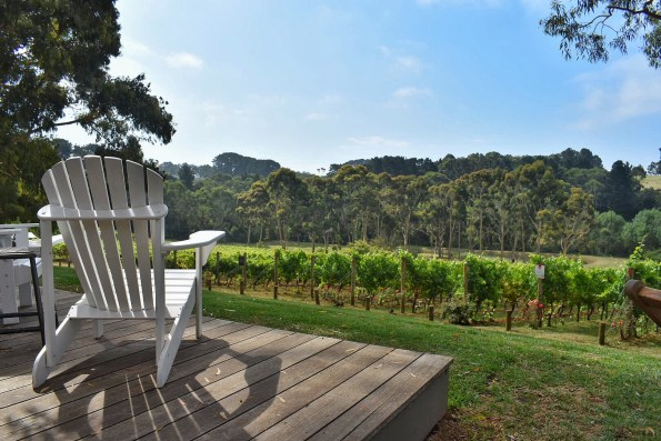 Polperro winery deck, Red Hill