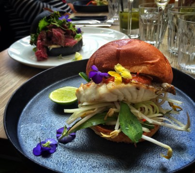 Snapper burger fromKettle Black, Melbourne