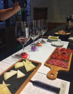 Wine and charcuterie at Luis Canas, Rioja