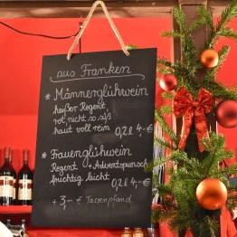 Gluhwein menu at Nuremberg Christmas markets