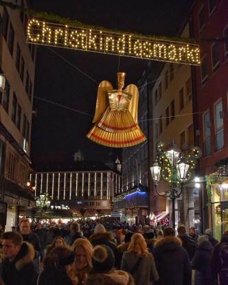 Sign for Nuremberg Christmas market