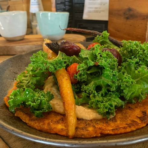 Sweet potato flatbread at Bayleaf Byron Bay