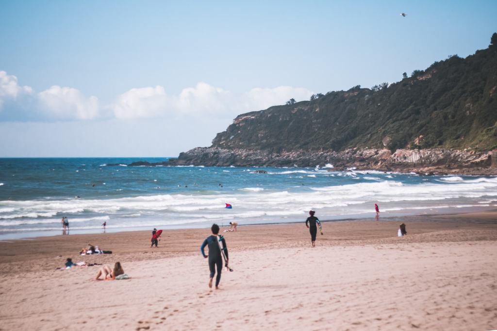 Playa Zurriola en San Sebastian