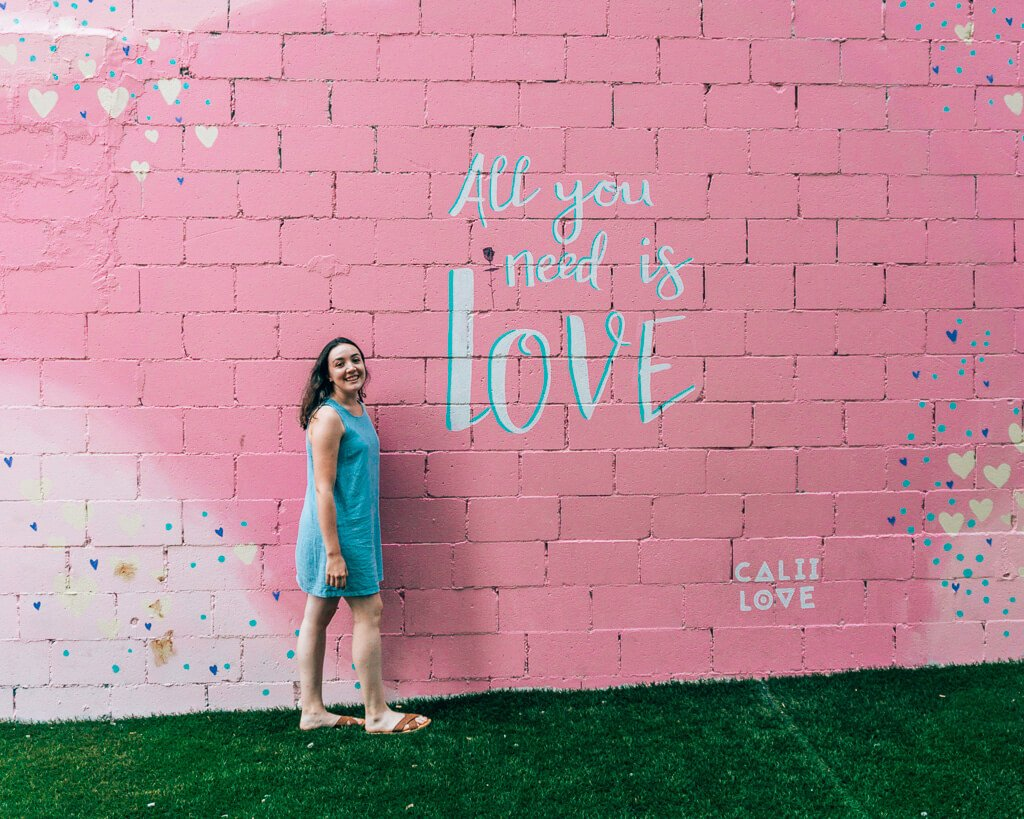 All you need is love mural in Toronto