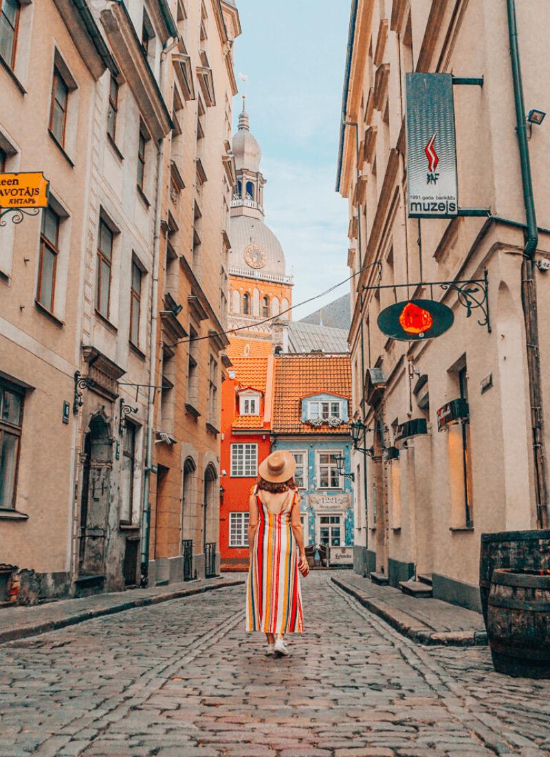 Streets in Riga, Latvia