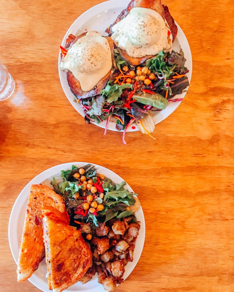 Vegan dishes at Chickpea Restaurant
