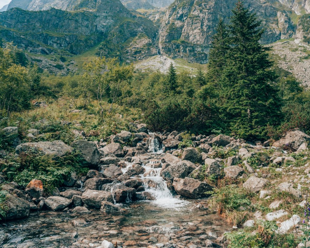 waterfall in the tatras mountains