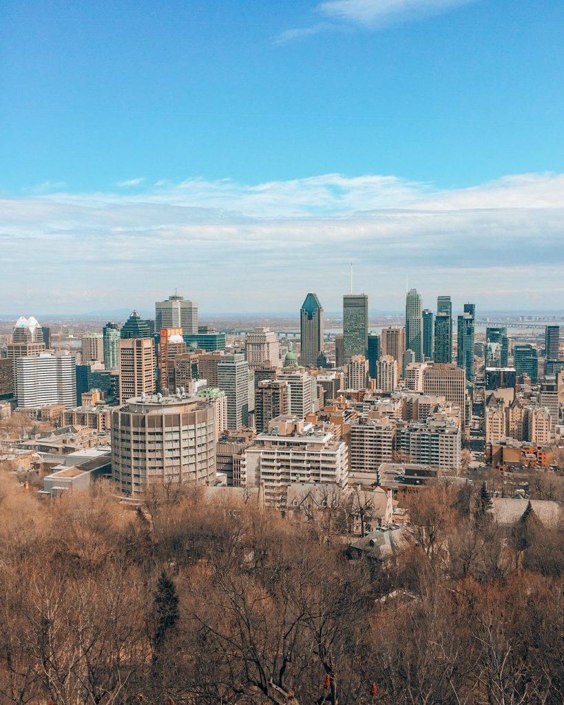 Mont Royal lookout in Montreal