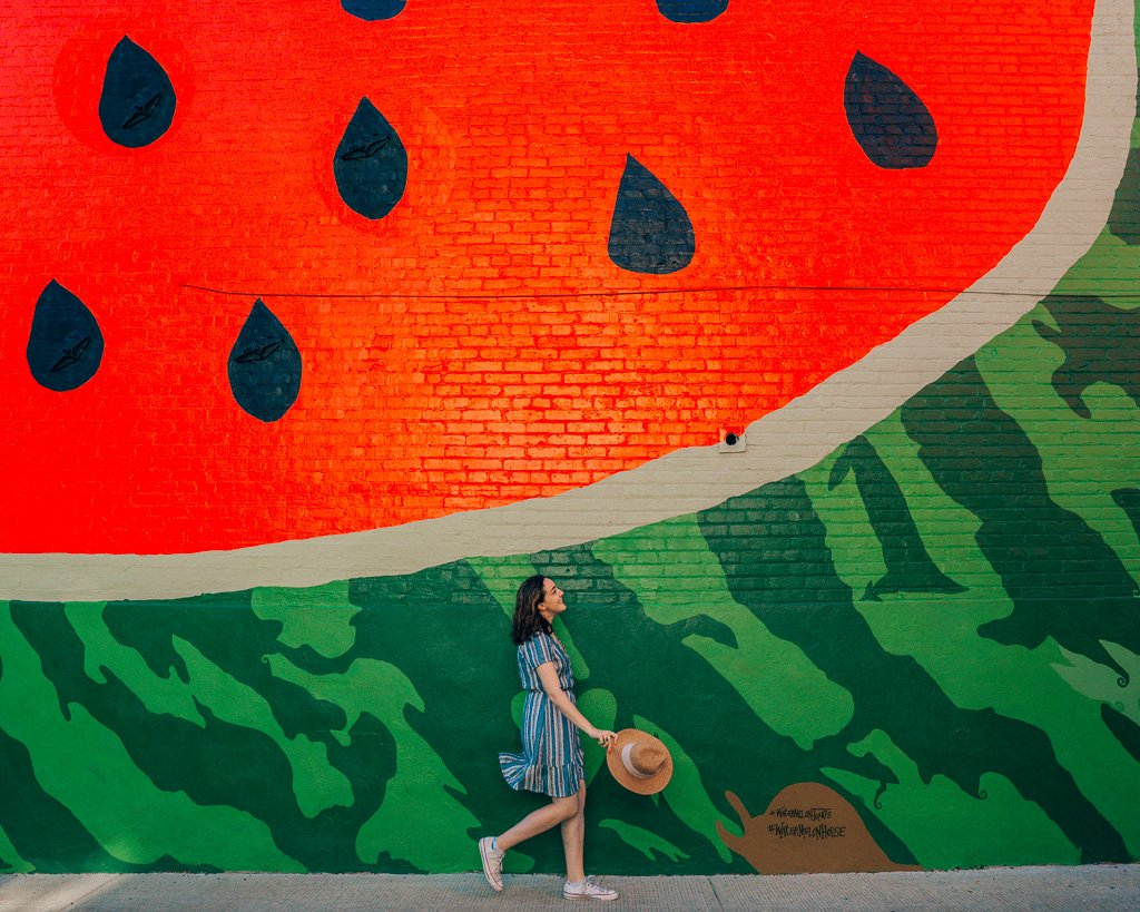 Instagram Watermelon Wall in Washington, DC