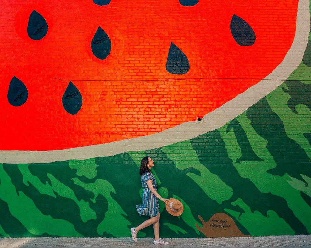 Instagram Watermelon Wall in Washington, DC